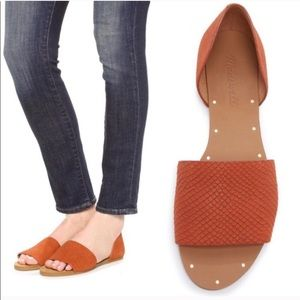 Madewell Thea Burnt Coral Leather Sandals